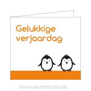 Gelukkige verjaardag kaart pinguin Oudenaarde