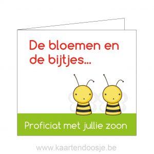 Proficiat kaartje bloemen en bijtjes Oudenaarde