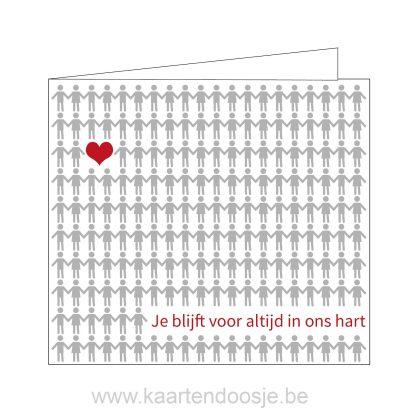 deelnemingskaart condoleancekaart innige deelneming je blijft voor altijd in ons hart Oudenaarde modern