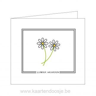 Deelnemingskaart innige deelneming condoleancekaart zonder woorden Oudenaarde condeolance