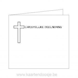 Deelnemingskaart christelijke deelneming Oudenaarde condeolance