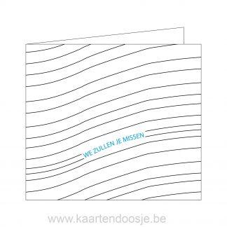 deelnemingskaart condoleancekaart innige deelneming vlinder Oudenaarde modern we zullen je missen