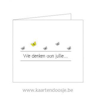 Wenskaarten afscheid deelneming we denken aan jullie geel