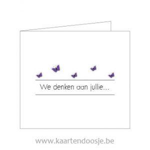 Wenskaarten afscheid deelneming we denken aan jullie paars