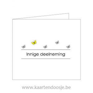 Wenskaarten afscheid innige deelneming vlinders