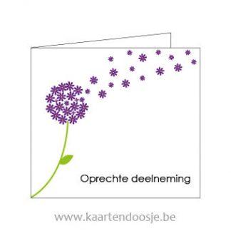 Wenskaarten afscheid oprechte deelneming bloem