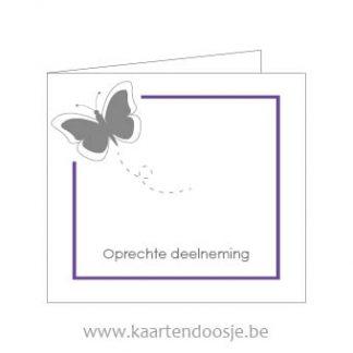 Wenskaarten afscheid oprechte deelneming vlinder