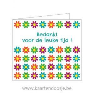 Wenskaarten bedankt voor de leuke tijd bloem