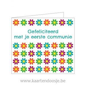 Wenskaarten eerste communie bloemen