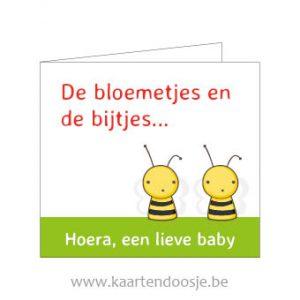 Wenskaarten geboorte de bloemtjes en de bijtjes