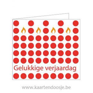 Wenskaarten gelukkige verjaardag kaarsen rood