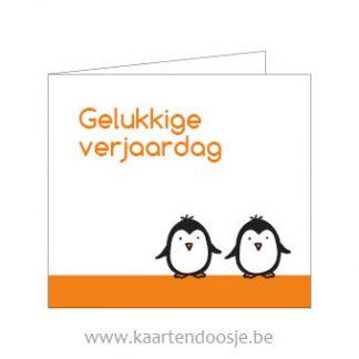 Wenskaarten gelukkige verjaardag pinguins