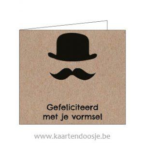 Wenskaarten plechtige communie vormsel hoed