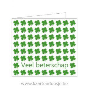 Wenskaarten veel beterschap groen