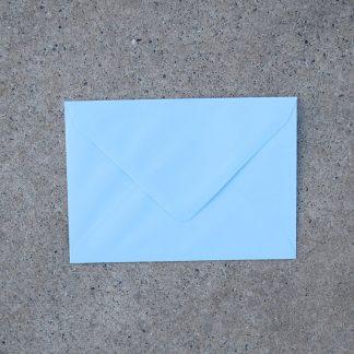 C6 envelop formaat 114x162 mm licht blauw