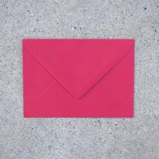 C6 envelop formaat 114x162 mm rood