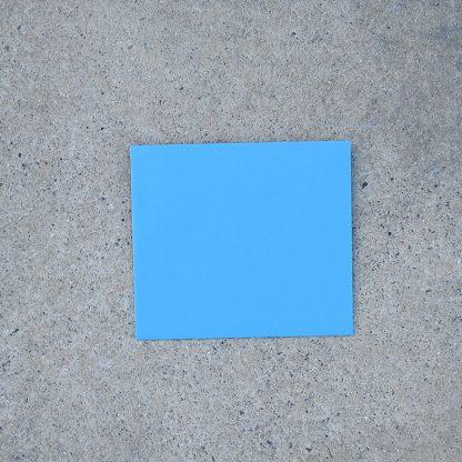 Vals vierkant envelop formaat 125x140 mm blauw